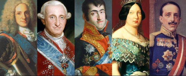 Los 11 reyes de la Casa de Borbón en España