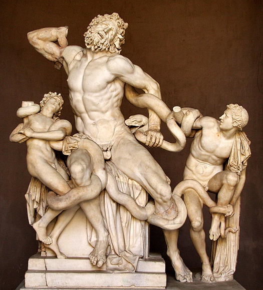 14 Enero 1506 en Roma se descubre la escultura Laocoonte y sus hijos