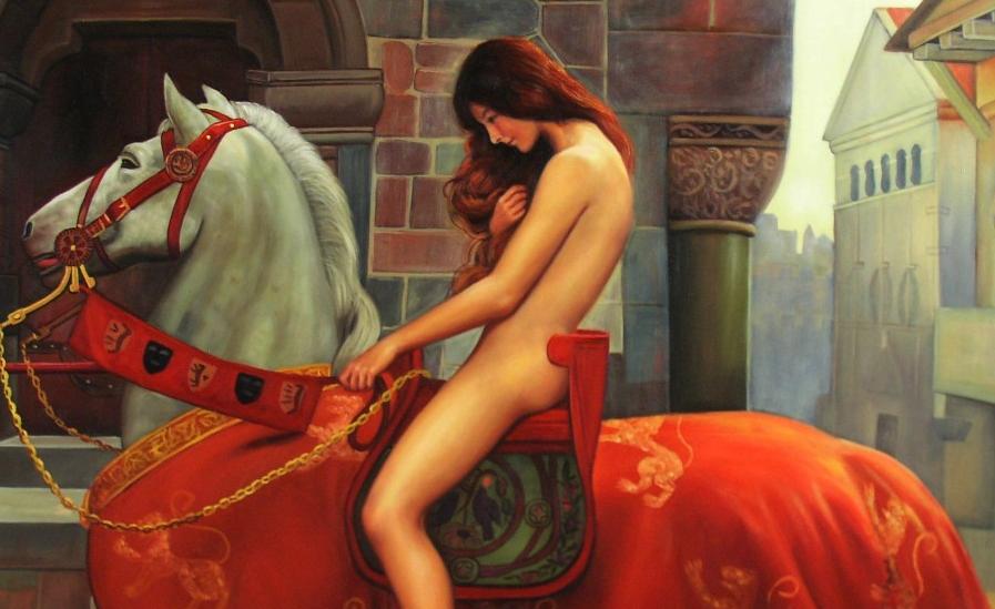 Lady Godiva la mujer que cabalgó desnuda por los derechos de sus vasallos