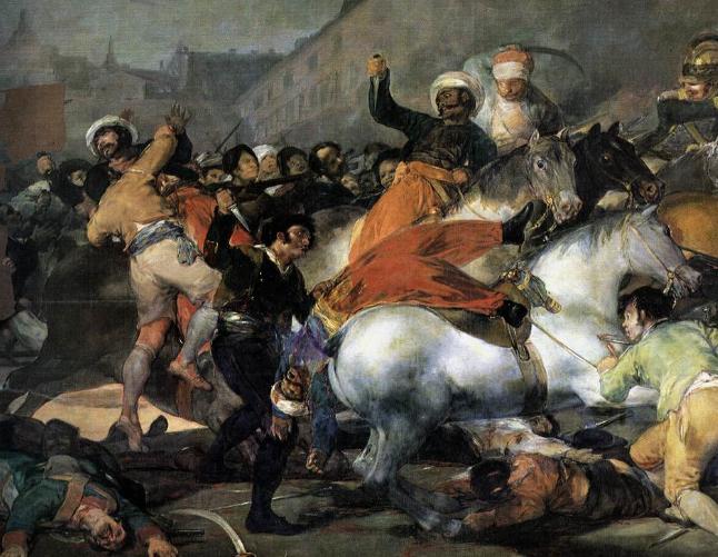 2 Mayo 1808 se produce el Levantamiento en Madrid contra las tropas de Napoleón