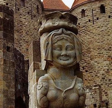 La Dama Carcas la mujer que da nombre a la ciudad francesa de Carcassonne