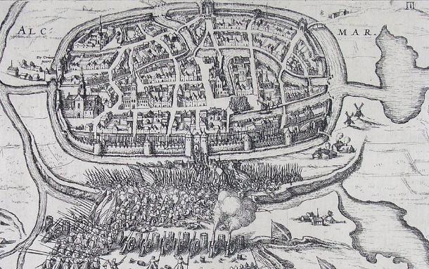 8 Octubre 1573 durante la Guerra de los Ochenta Años se produce el Asedio de Alkmaar