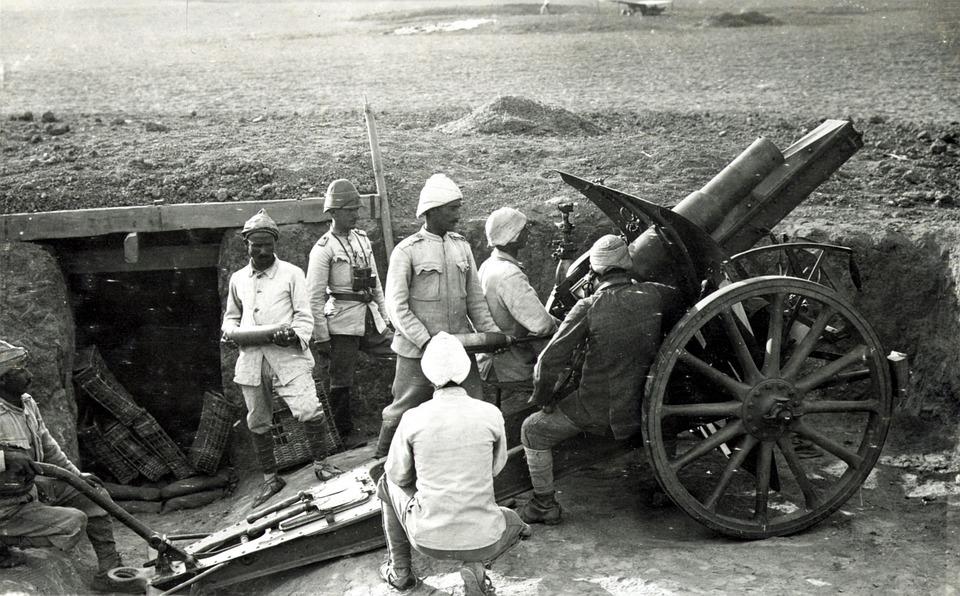 Primera Guerra Mundial soldados otomanos