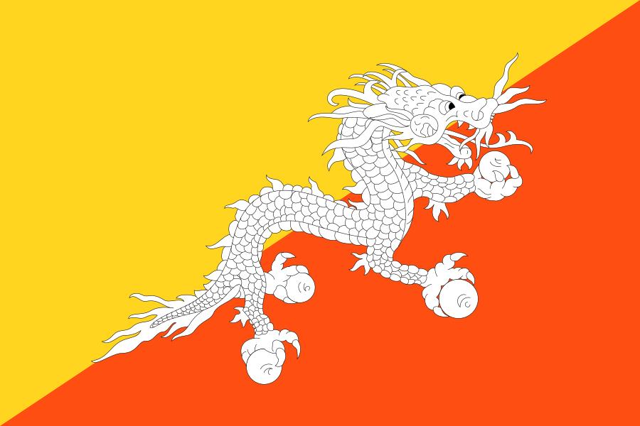 Bandera de Bután