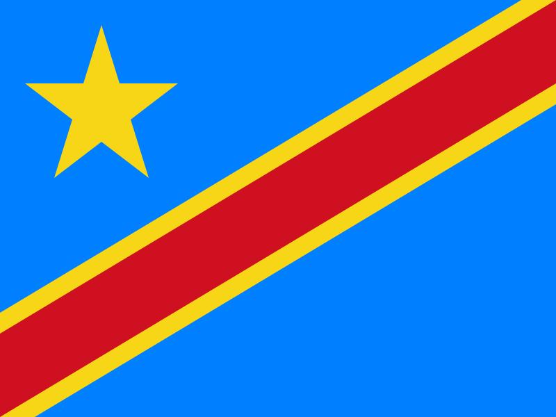 Bandera de la República Democrática del Congo
