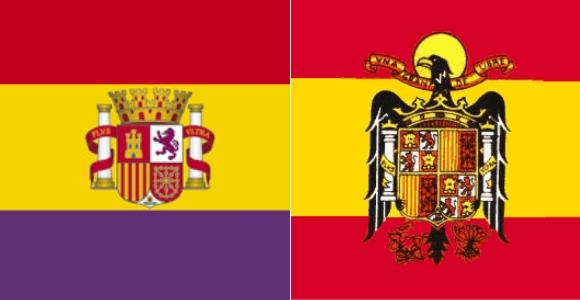 Bandera Republicana y Franquista
